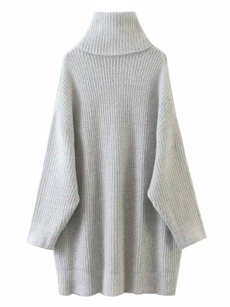 'Samantha' Turtleneck Knit Dress