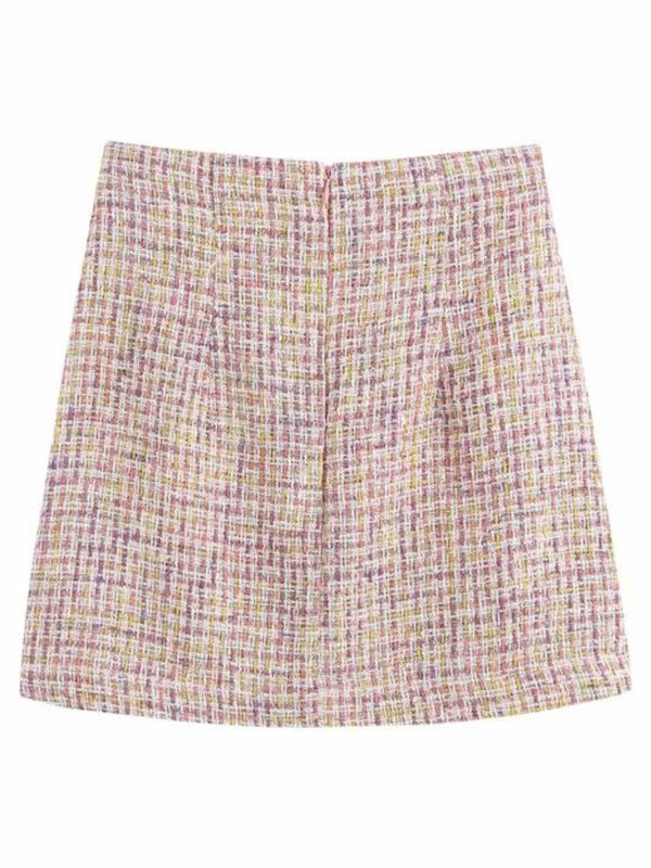 'Deanna' Tweed Mini Skirt