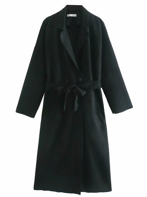 'Polly' Faux Suede Drench Coat (2 Colors)