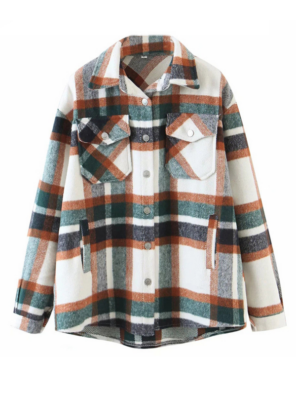'Hilary' Plaid Oversized Shirt (2 Colors)