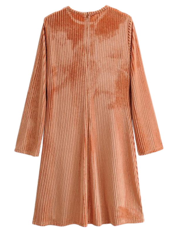 'Tiff' Ribbed Corduroy Dress