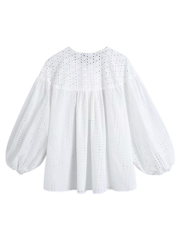 'Renee' Crochet Lace Blouse
