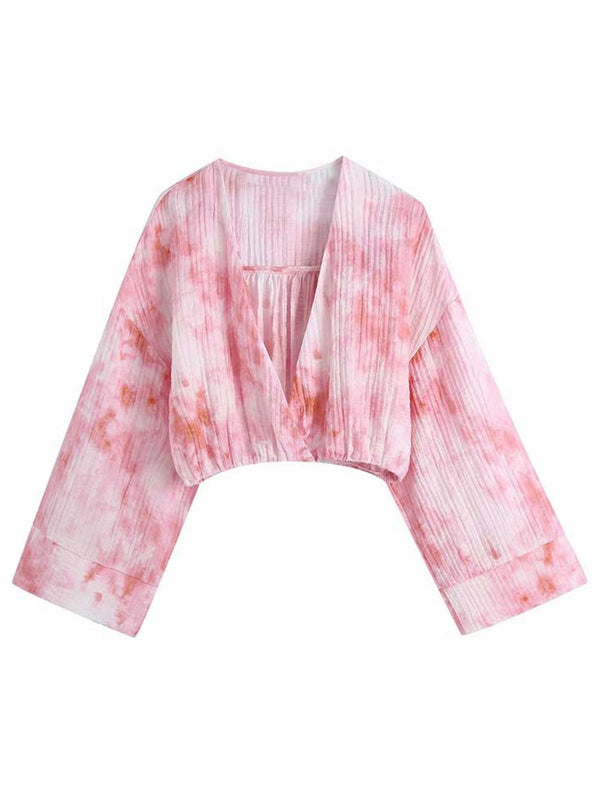 'Serene' Tie Dye Wrap Top / Bottom Co-ord
