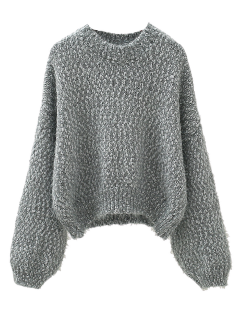 'Buber' Mixed-knit Soft Sweater (3 Colors)