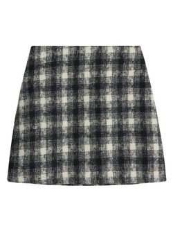 'Jessie' Metallic Plaid Mini Skirt (2 Colors)