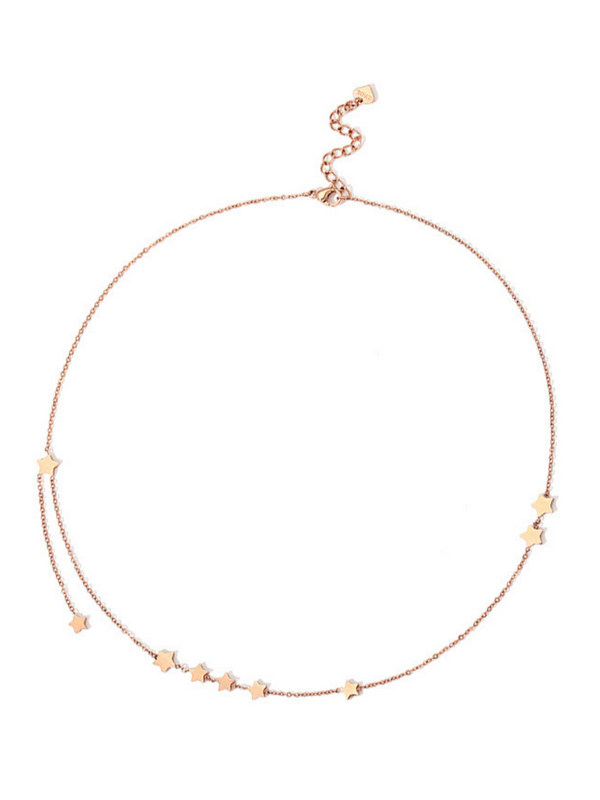 'Edene' Rose Gold Cute Star Necklace