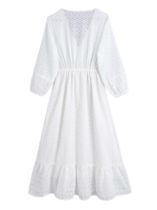'Winsome' Crochet Lace Tied Maxi Dress