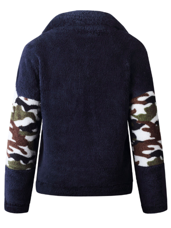 'Kaylee' Camouflage Fleece Pullover (2 Colors)