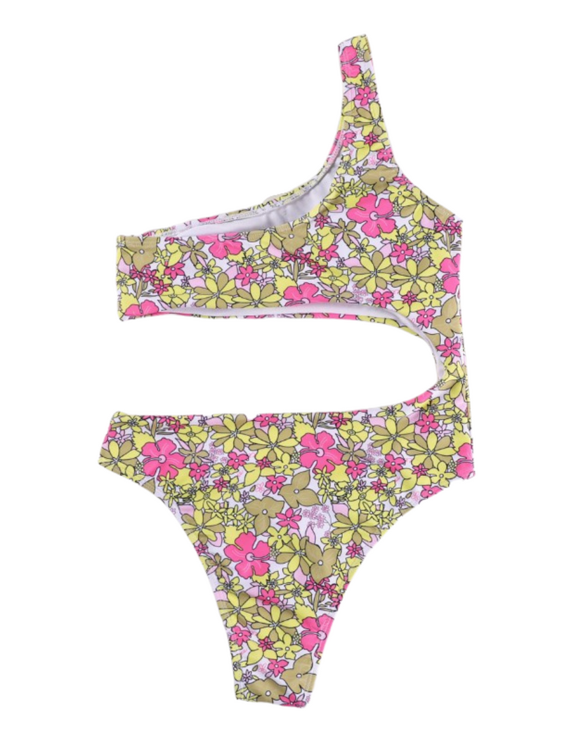 'Elia' Floral Cut-out Swimsuit