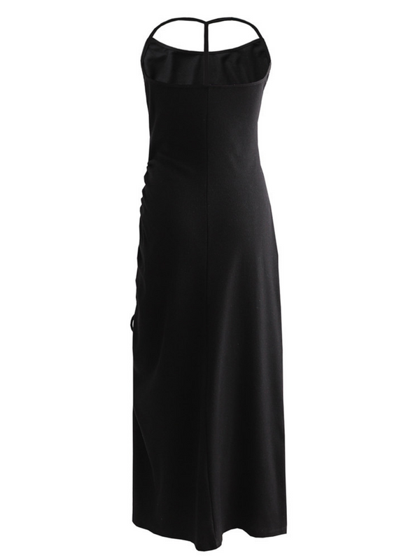 'Jennie' Halter-neck Cinched Maxi Dress