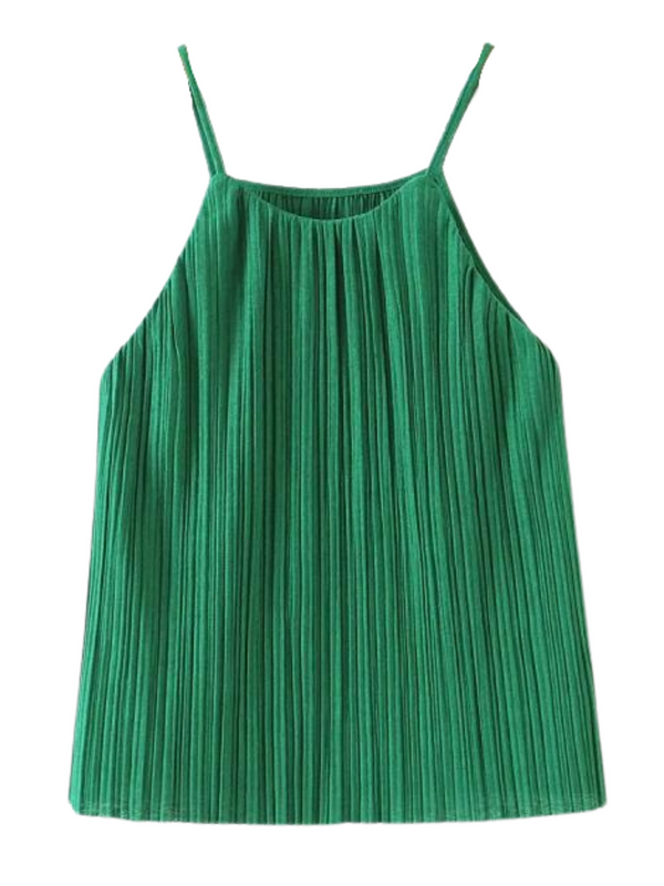 'Bruney' Pleated Cami Top (2 Colors)
