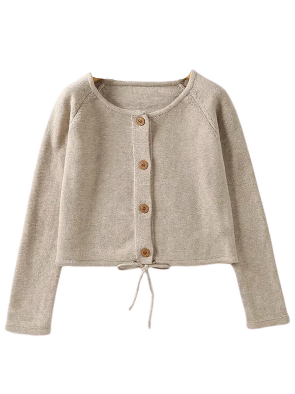 'Ali' Buttoned Tied Cardigan (4 Colors)