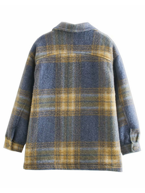 'Kiere' Pocket Thick Plaid Shacket
