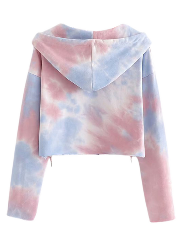 'Keila' Tie Dye Zip-up Long Sleeves Set