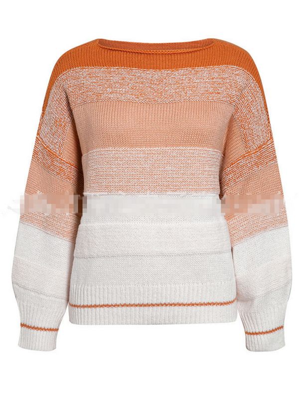'Bella' Colorblock Boat-neck Sweater (3 Colors)