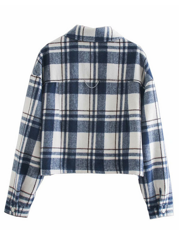 'June' Cropped Plaid Shirt