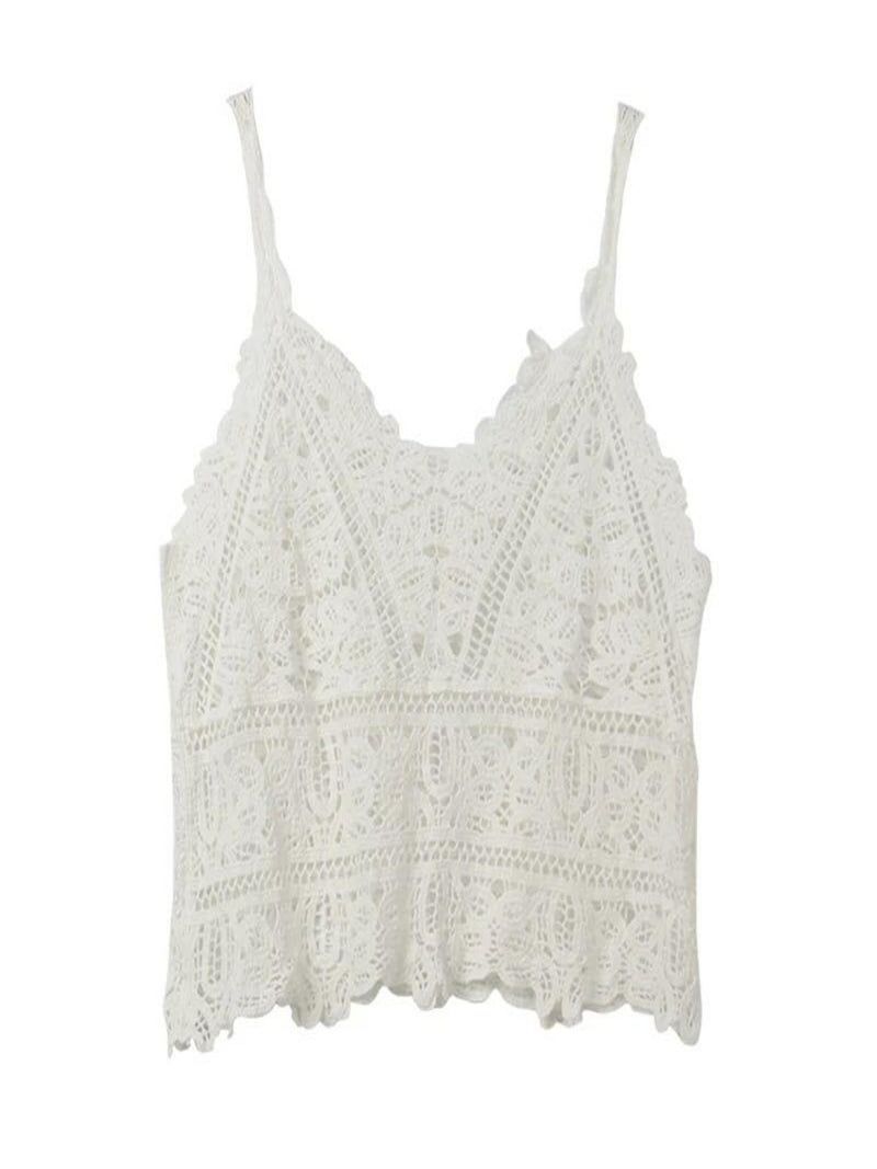 'Bahira' V-Neck Lace Cami Top (2 Colors)