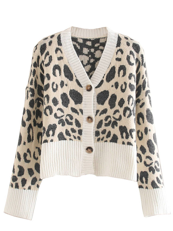'Ginny' Leopard Print Button Down Cardigan (2 Colors)