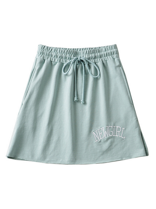 'Newgirl' Drawstring Mini Comfy Skirt (3 Colors)