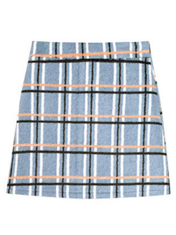 'Judy' Plaid A-line Skirt (2 Colors)