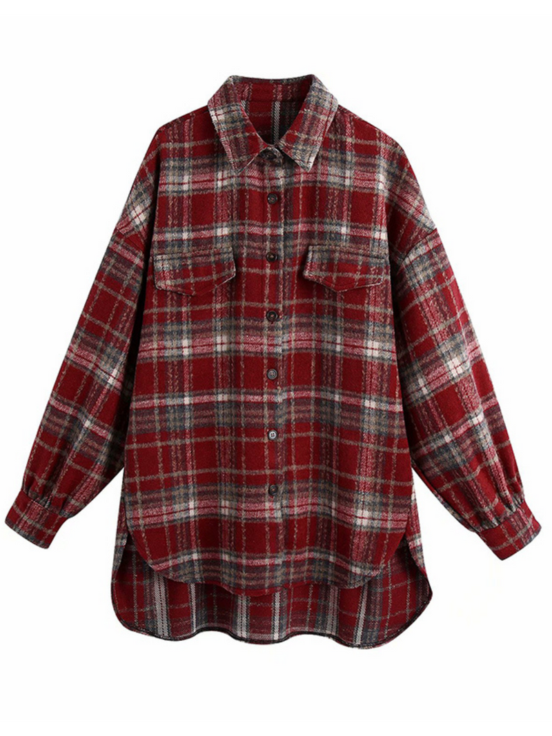 'Joey' Thick Plaid Oversized Shirt (2 Colors)