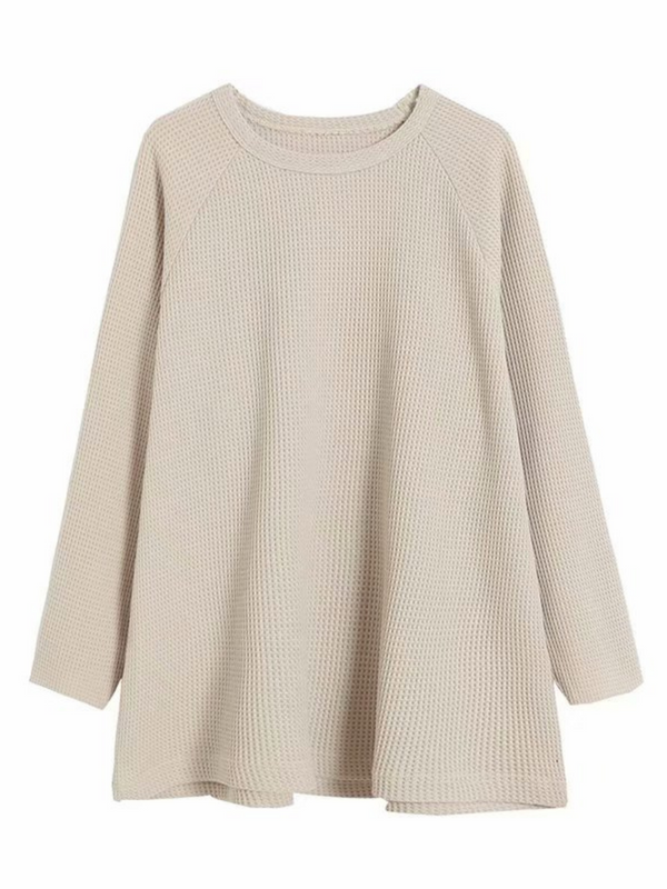 'Hayley' Relaxed Waffle-knit Sweater (3 Colors)