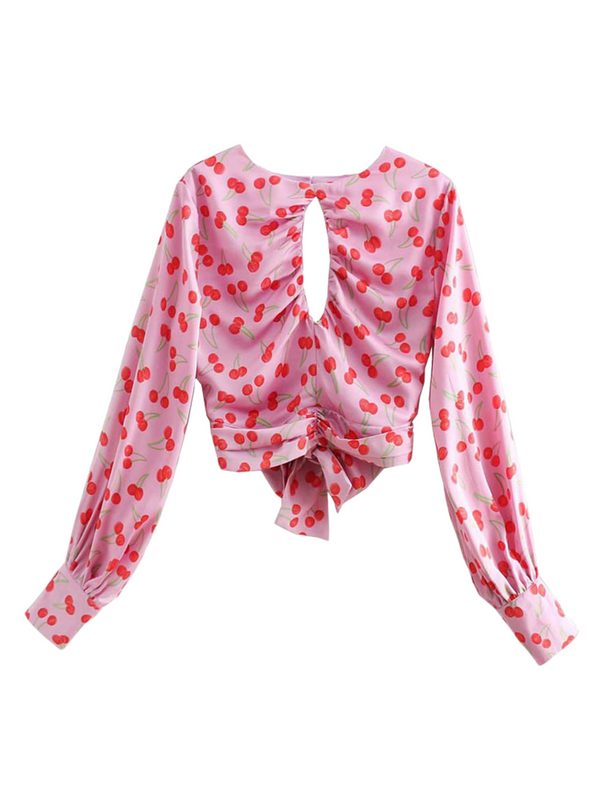'Rosie' Cut-out Tied Blouse (3 Styles)
