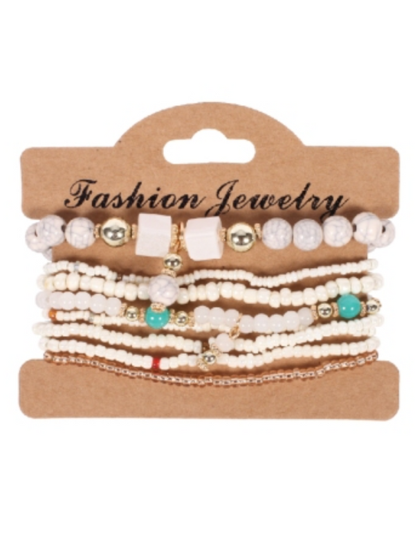 'Janice' Bead Multi-layered Bracelet (6 Colors)
