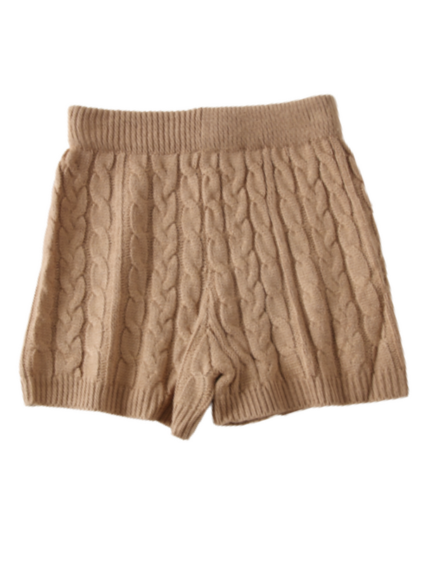 'Hazel' Cable-knit Shorts (4 Colors)