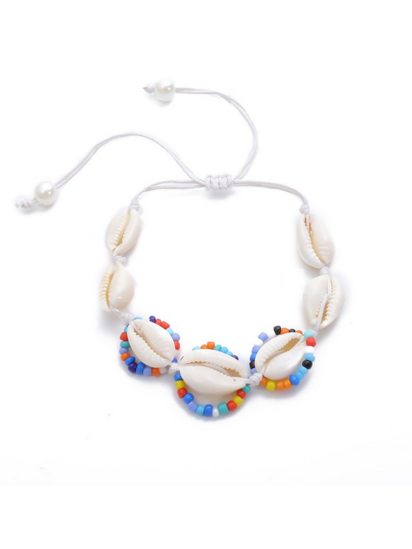 'Lili' Shell Layered Bead Bracelet