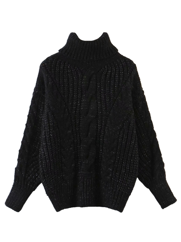 'Brenda' Bishop Sleeve Turtleneck Sweater (4 Colors)