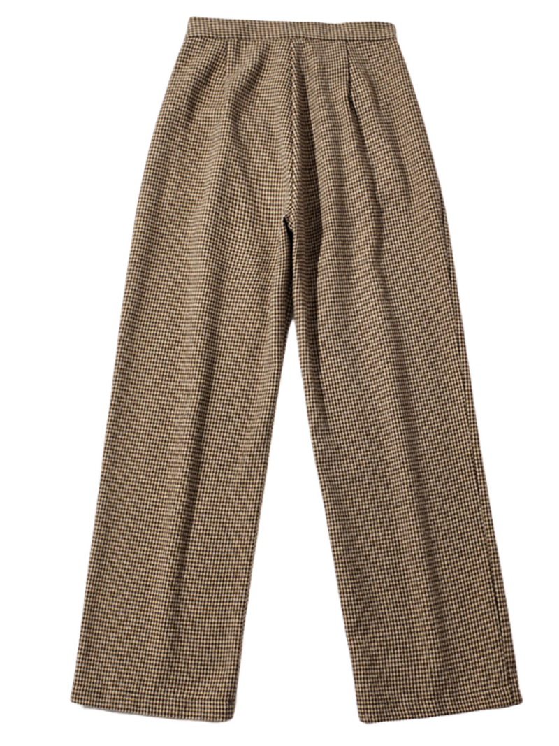 'Rico' Houndstooth Straight Leg Pants (2 Colors)