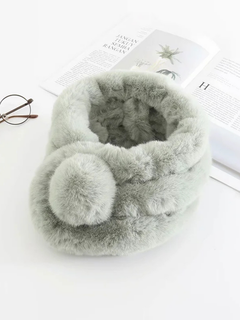 'Wandler' Fluffy Fur Scarf(8 Colors)