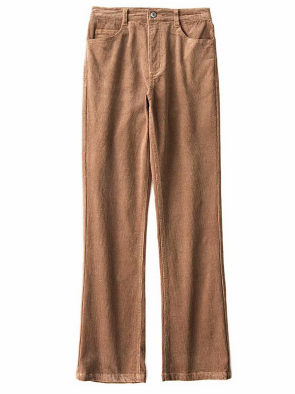 'Ebby' Corduroy Straight Leg Pants (2 Colors)