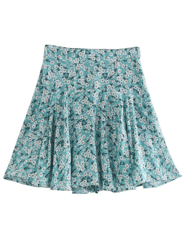 'Everlee' High Waist Floral Mini Skirt