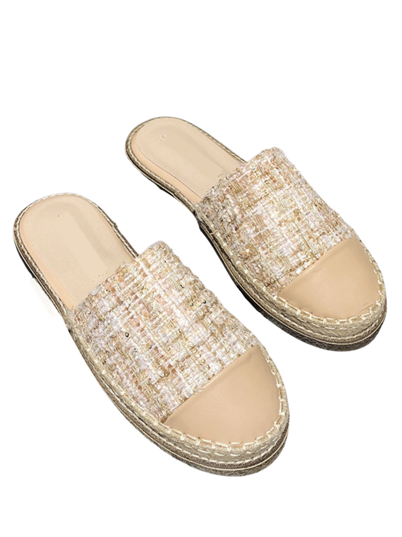 'Dor' Quilted/ Tweed Slip-on Espadrilles (5 Colors)