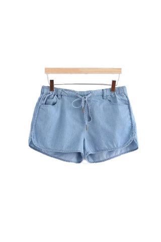'Reese' Soft Cotton Chambray Shorts - Goodnight Macaroon