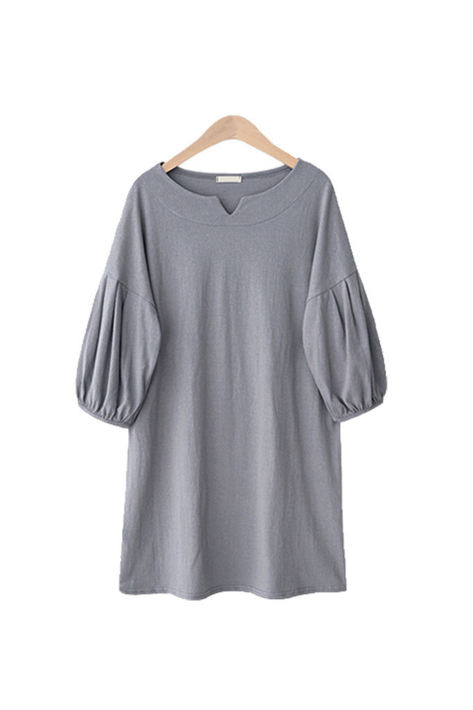'Lawrence' Minimalist Bishop Sleeve Shift Dress