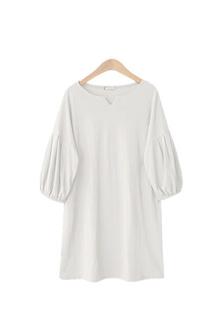 'Lawrence' Minimalist Bishop Sleeve Shift Dress - Goodnight Macaroon