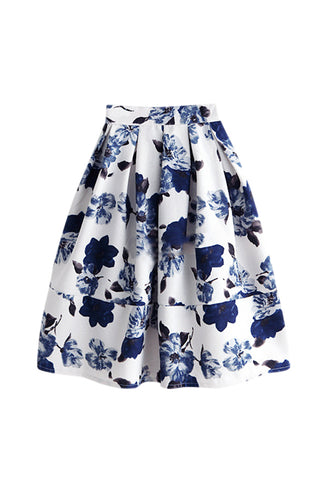 Goodnight Macaroon 'Courtney' Floral Midi Skirt
