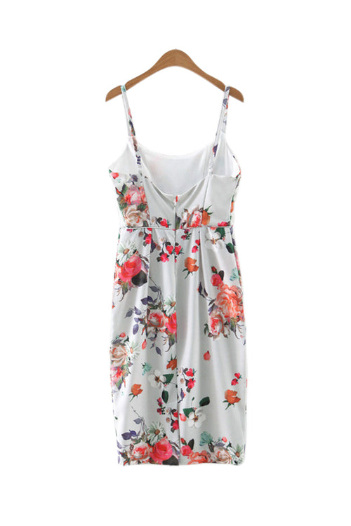 'Ramona' Floral Pencil Bustier Dress