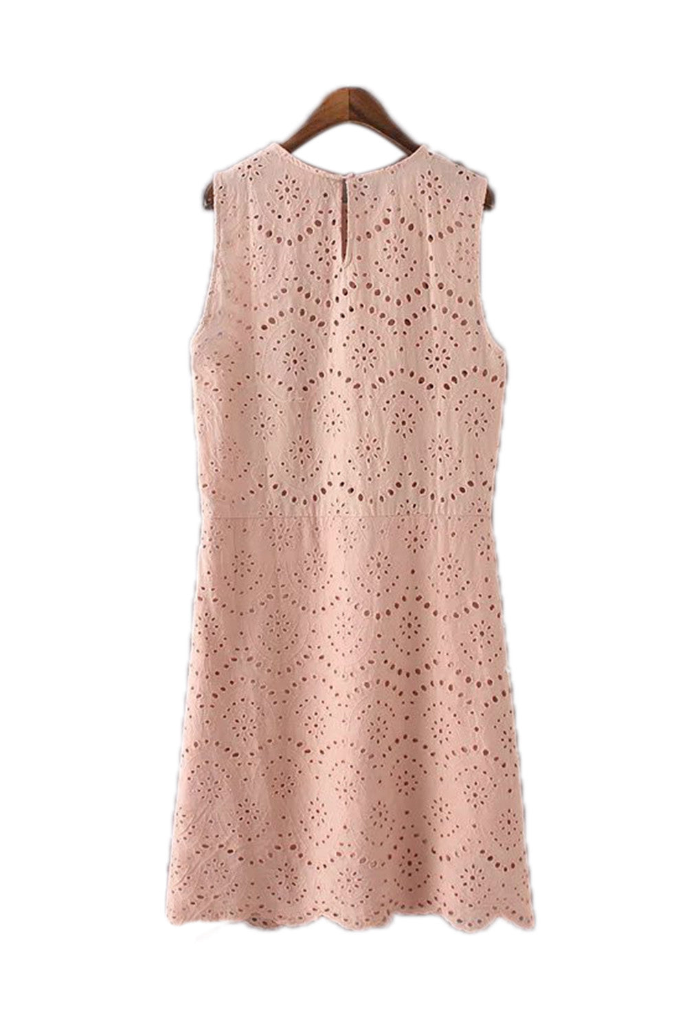 Goodnight Macaroon 'Ariel' Crochet Eyelet Shift Dress