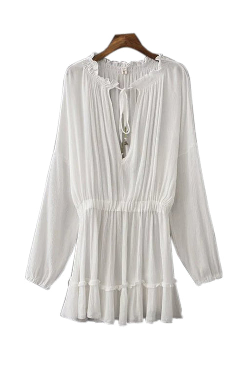 Goodnight Macaroon 'Flora' Chiffon Blouson Dress