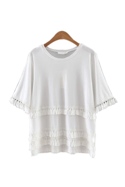 'Sabrina' Tassel Blouse - Goodnight Macaroon