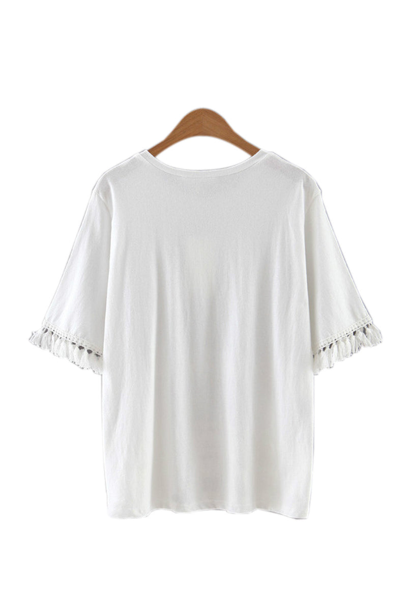 Goodnight Macaroon 'Sabrina' Tassel Blouse