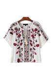 Goodnight Macaroon 'Daisy' Embroidered Boho Blouse