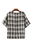 Goodnight Macaroon 'Uma' Gingham Plaid Top