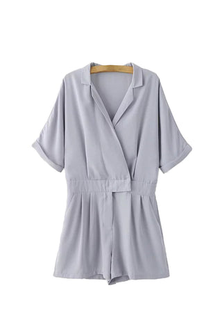 'Tammy' Collar Wrap Romper