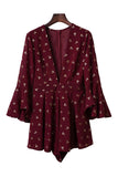Goodnight Macaroon 'Olivia' Burgundy Romper