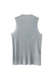 Goodnight Macaroon 'Jeana' Sleeveless Sheer Knit Top